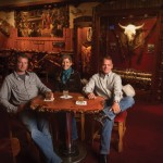Wyoming Whiskey's founders, from left, David DeFazio, Kate Mead and Brad Mead, enjoying a glass at Jackson's infamous Cowboy Bar. Photo by Tristan Greszko