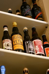 A glimpse into Colby Cox's beer cellar.