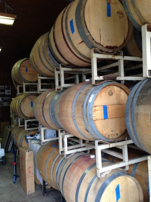 Wine Barrels at JH Winery