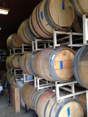 Wine Barrels at JH Winery