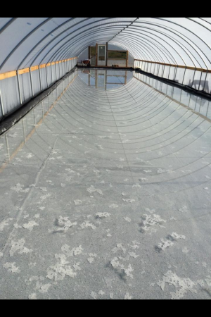 Minerl Water Evaporating in Yellowstone Salt Company's Afton green house