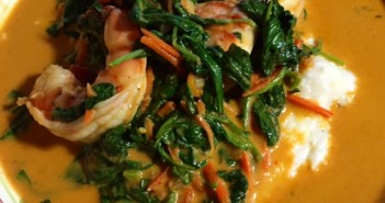 curried shrimp and grits