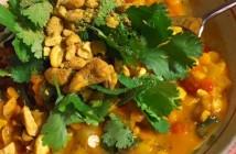 lentil curry coconut soup