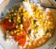 halibut in red curry sauce