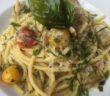 artichoke pasta at The Handle Bar
