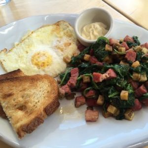 Sherwoods Post Corned Beef Hash with Chard