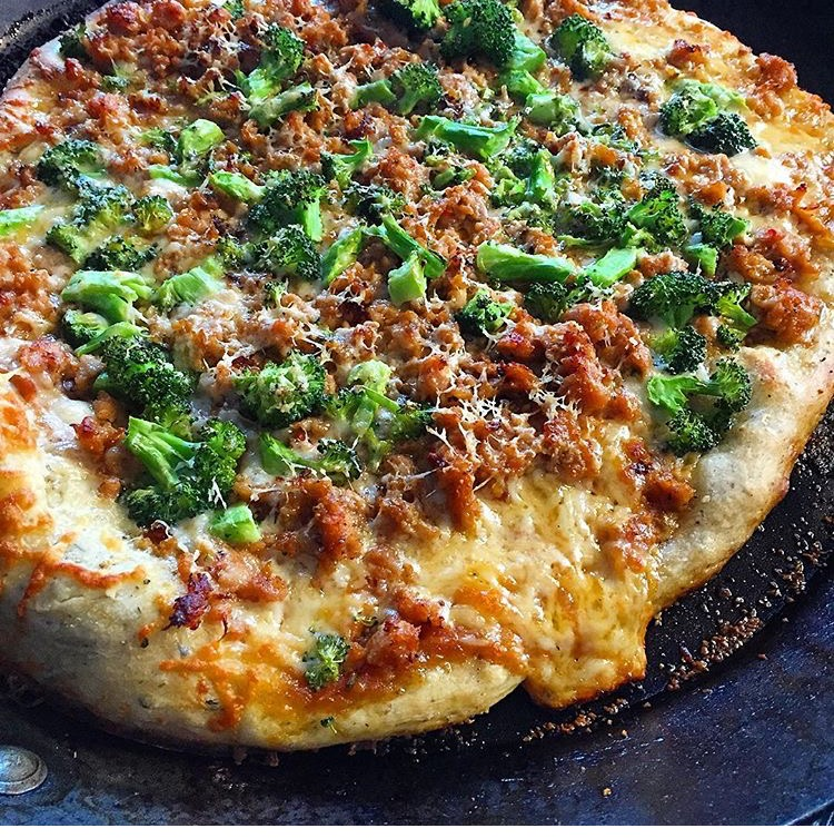 the perfect pizzeria Read the reviews on this recipe, you will never use another pizza crust recipe we love using this recipe when making our favorite meat lover's pizza or even just for this bbq chicken pizza roll.