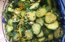 cucumber feta lemon salad