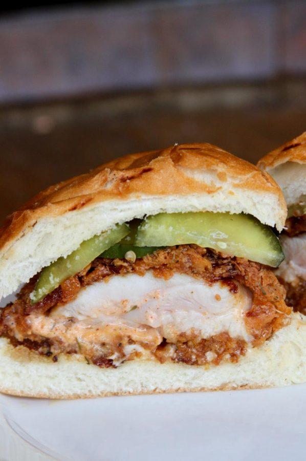fried chicken sando