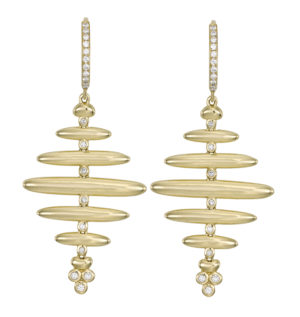 Temple St. Clair Diamond Honeycomb Earrings