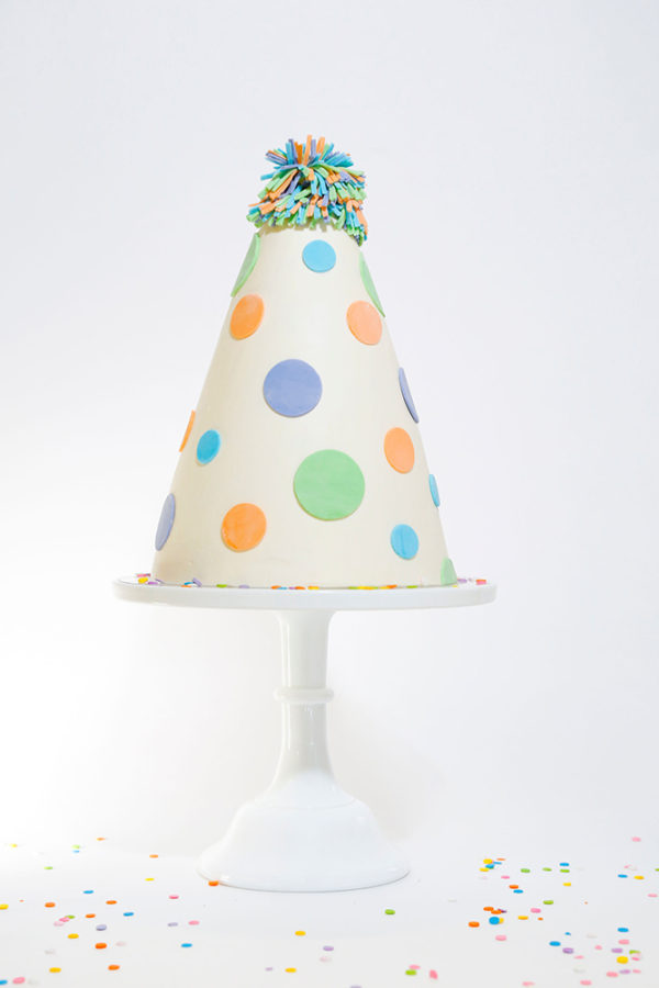 party hat cake